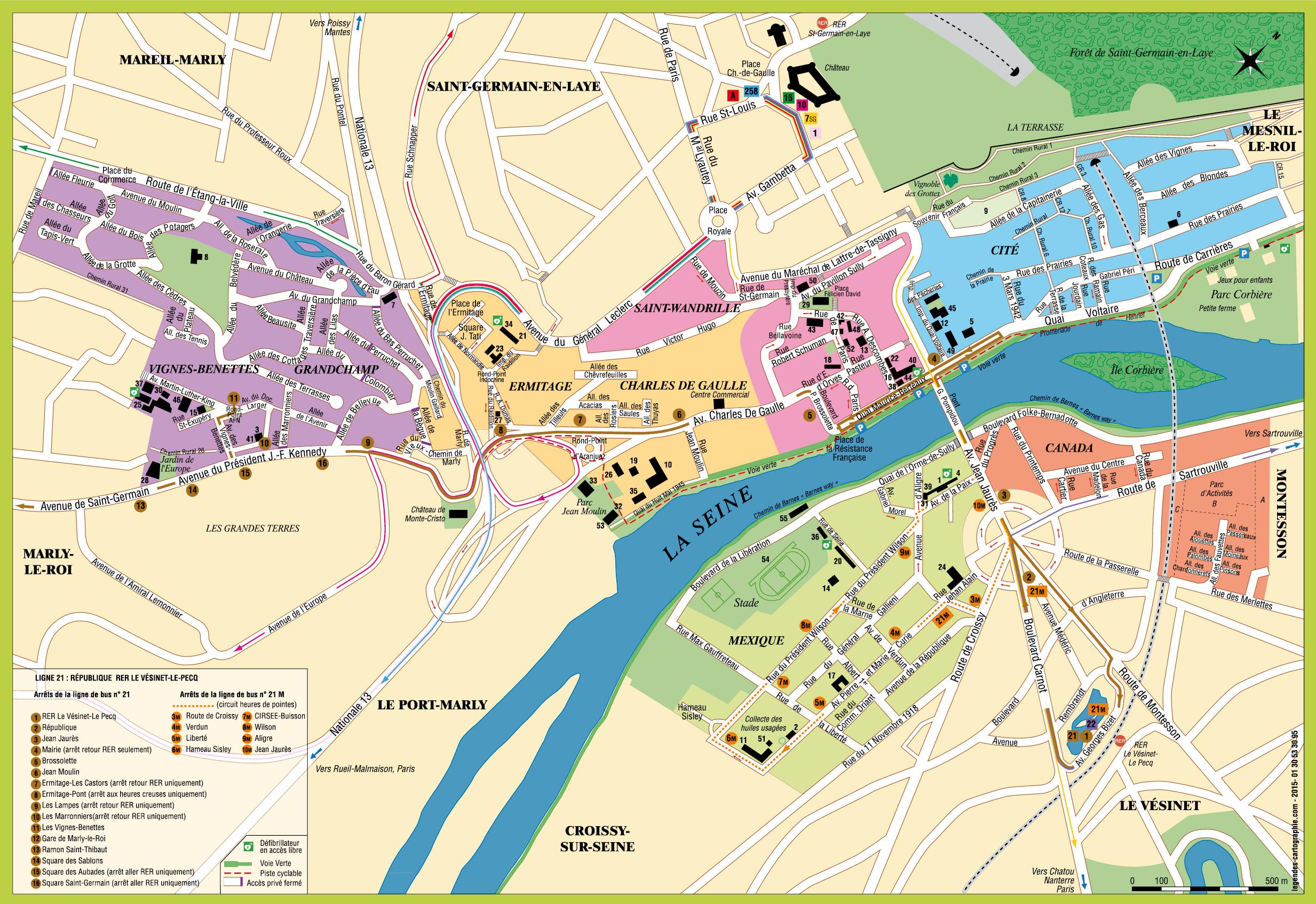 Le Pecq Plan De La Ville