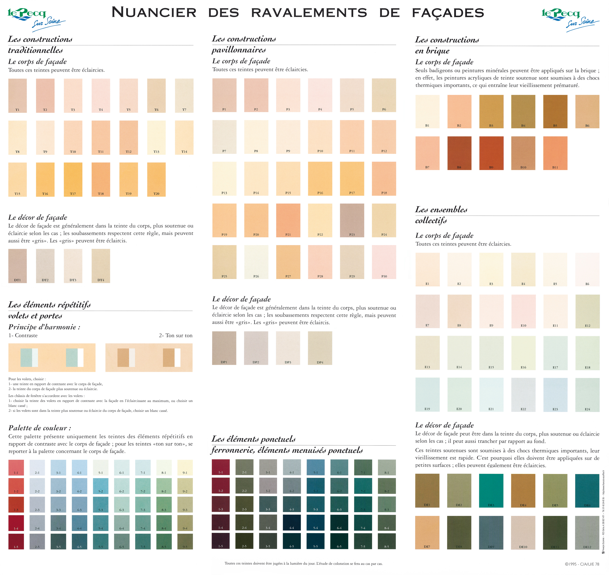 Ravalement le pecq for Nuancier couleur facade