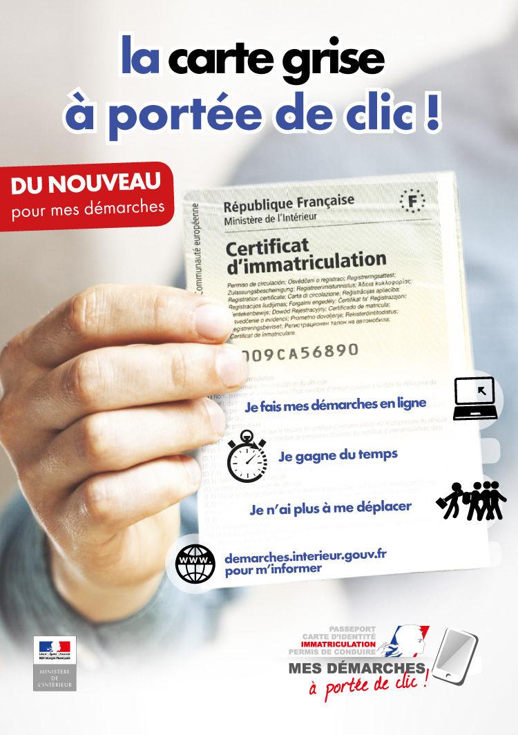 Carte grise et permis de conduire à portée de clic
