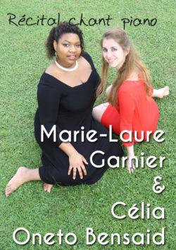 Marie-Laure Garnier & Célia Oneto Bensaid - Récital chant piano - Dimanche 23 novembre au Conservatoire Jehan Alain