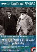 Conférence pour les seniors «Monet, Clemenceau : une amitié»