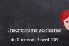 Inscriptions scolaires jusqu'au 5 avril
