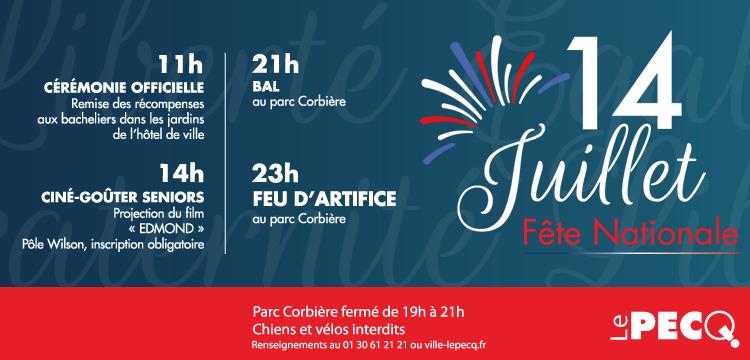 Dimanche 14 juillet : Fête nationale