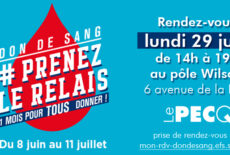 Don du sang le 29 juin au pôle Wilson