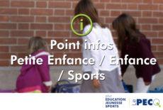 Point infos Petite Enfance / Enfance / Sports