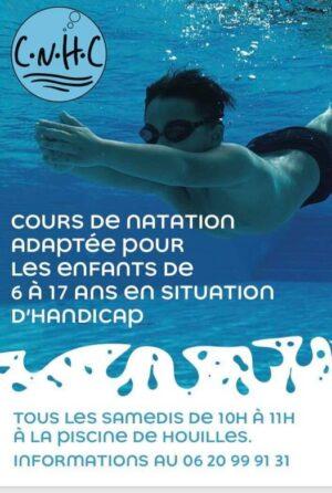 Cours de natation adaptée aux 6-17 ans en situation de handicap