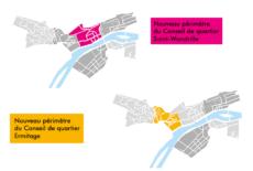 Modification des contours des Conseils de quartier Ermitage et Saint-Wandrille