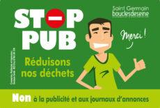 Vous ne lisez plus les prospectus ? Adoptez un Stop Pub et contribuez à la réduction des déchets !
