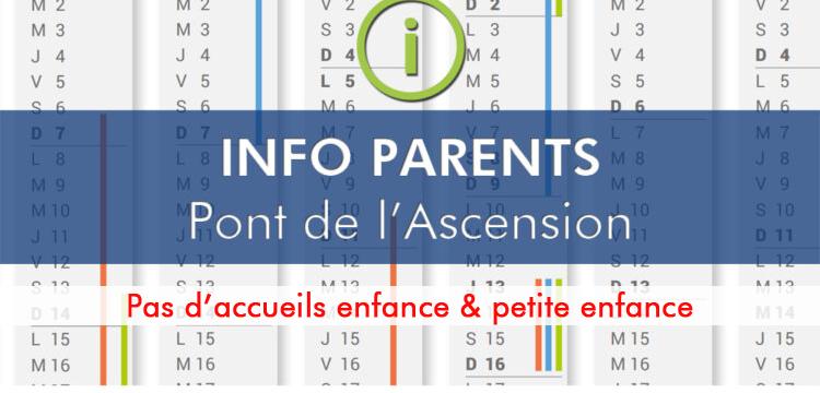 Info parents : pont de l'Ascension