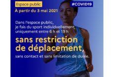 Déclinaison des décisions sanitaires pour le sport à partir du 3 mai 2021