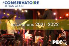Ouverture des inscriptions au conservatoire pour la saison 2021-2022