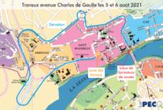 Fermeture de l'avenue Charles de Gaulle, les 5 et 6 août